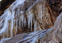 Long Icicles at the top of Whiteface Mountain