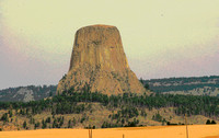 Devils Towerm from the lcosing of Close Encounters of the 3rd Kind